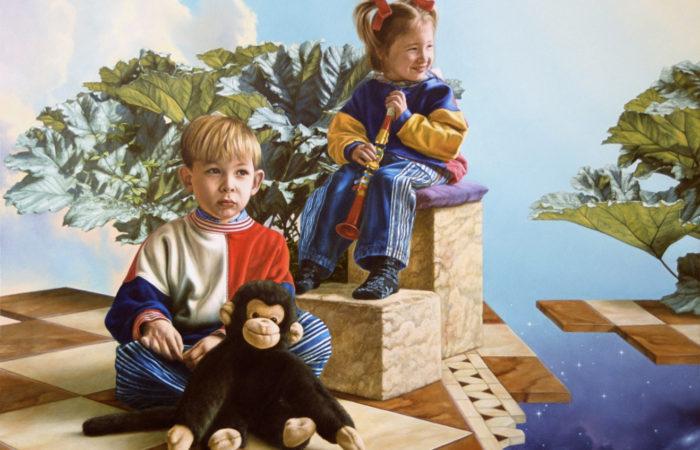Broer en zus 65/50 cm - periode 1990/2000
