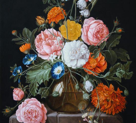 Kopie van een bloemstilleven van David Cornelisz De Heem