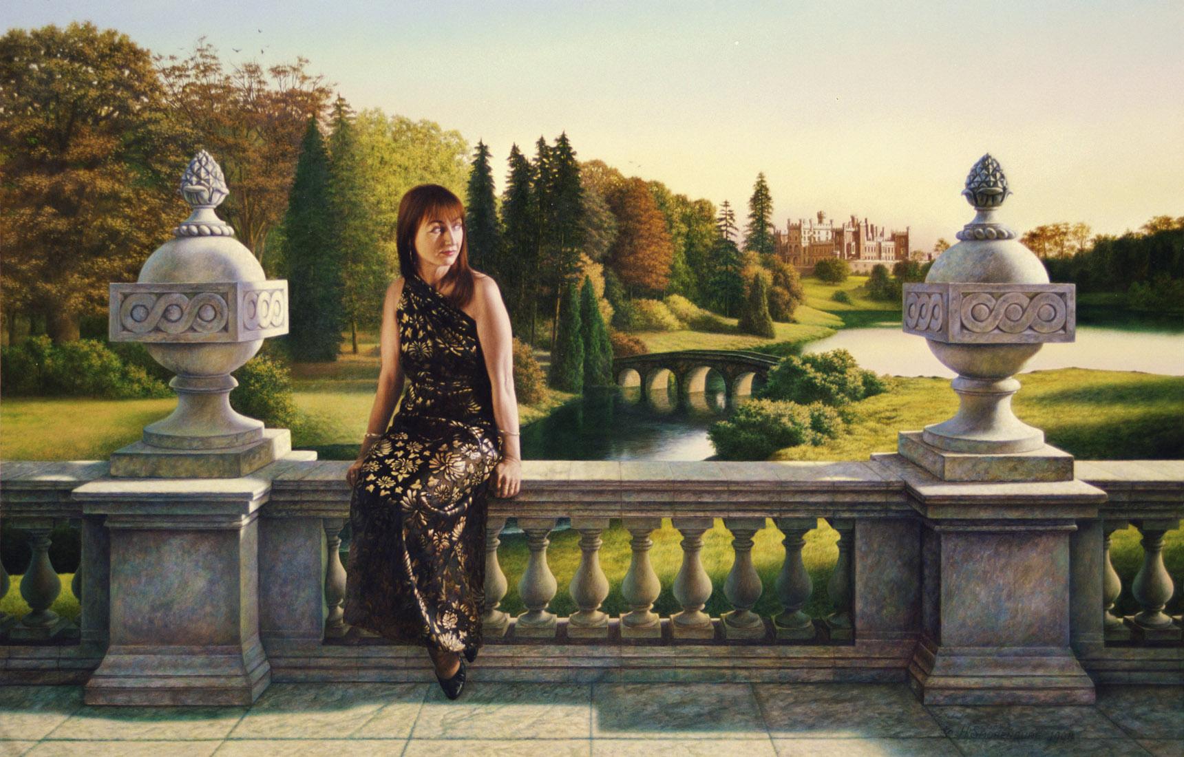 Portret van Fieke van Solt 120/80 cm - periode 1990/2000